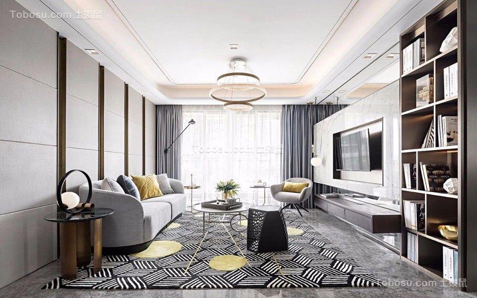96平方简约风格三居室装修效果图
