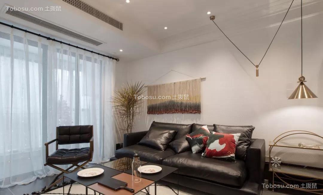 87㎡简约北欧二室两厅灵动线条勾勒品质之家图片