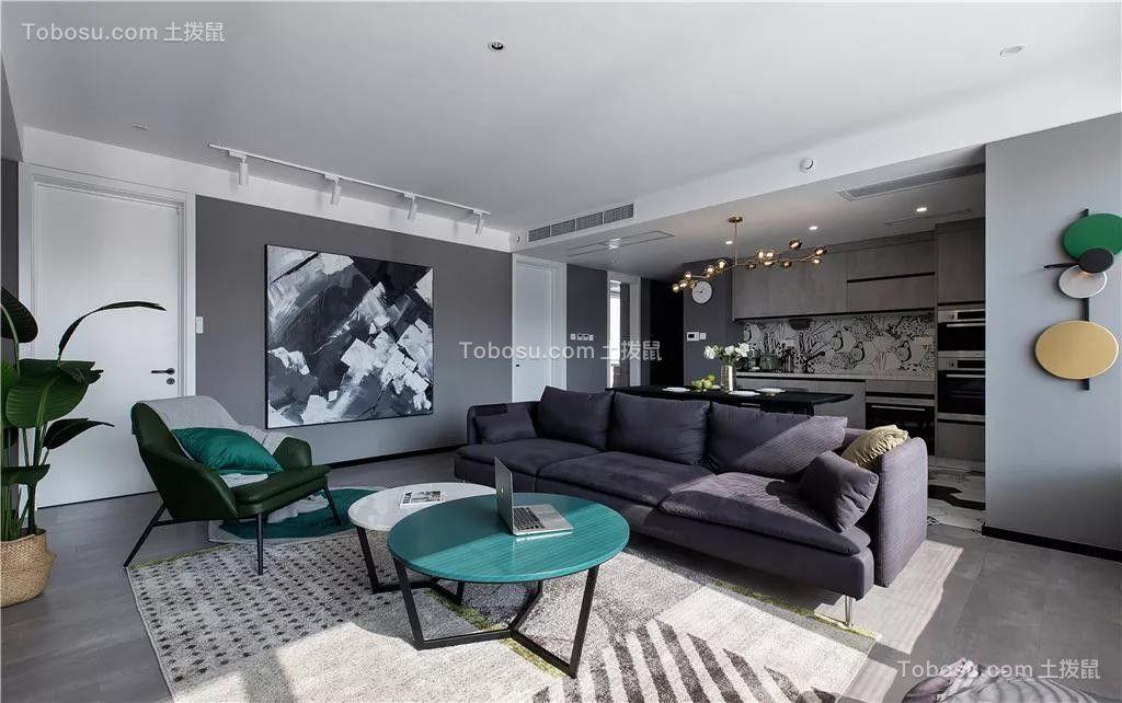 130平现代轻奢套房黑白灰装修效果图
