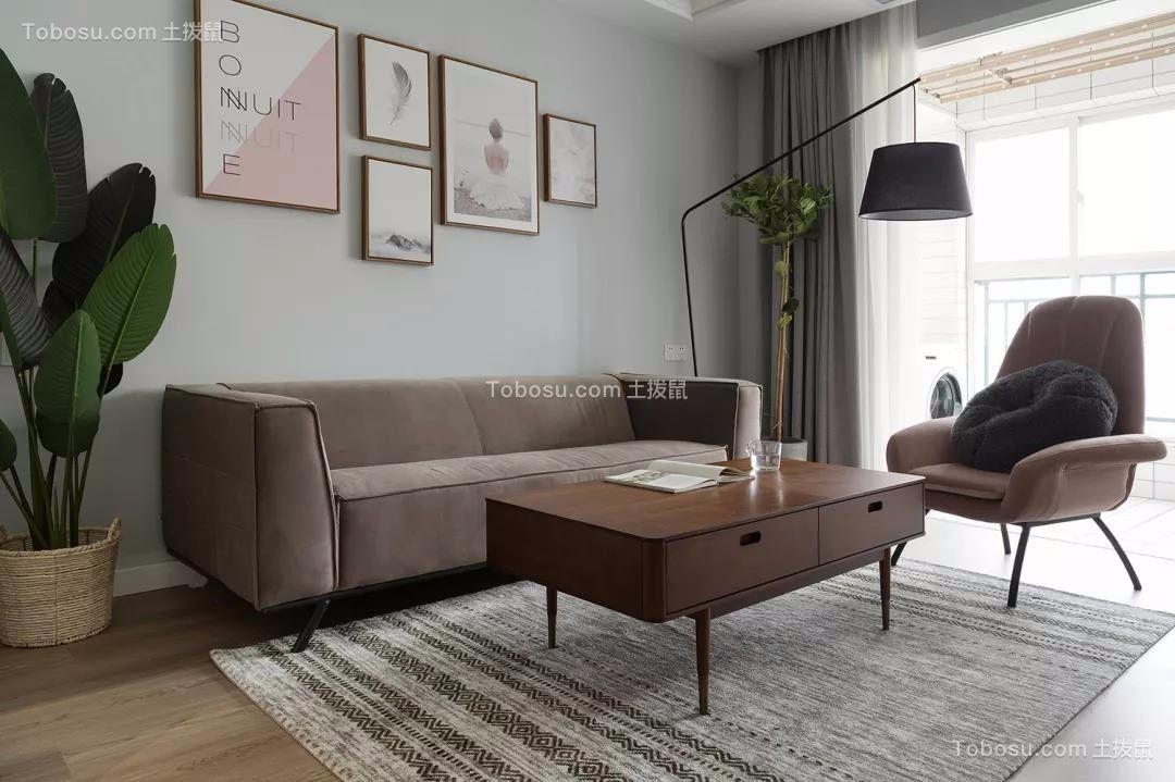 首开琅樾91平北欧二居室装饰效果图