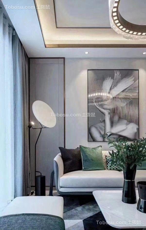 96㎡现代简约三居室效果图