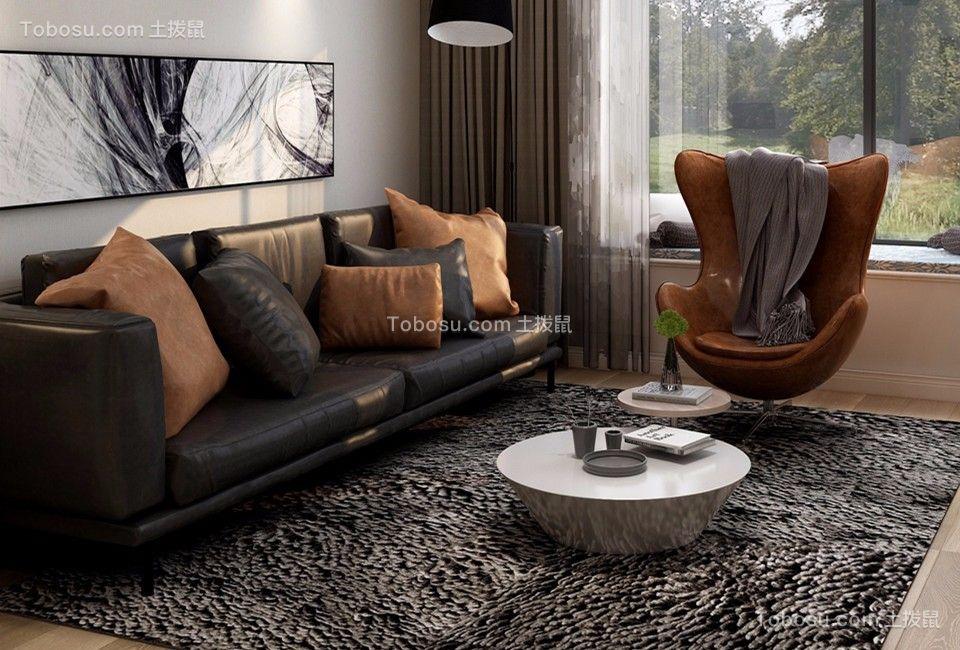 汇豪观邸现代轻奢150平米大户型灰色调装修效果图