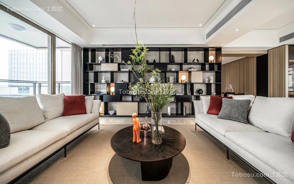 380平米现代简约风格大平层客厅装修效果图