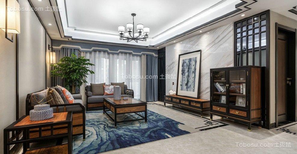 新中式180平方四房二厅户型效果图欣赏