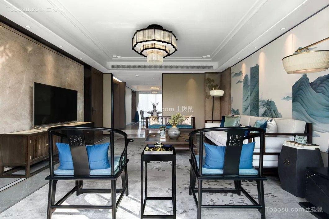 新中式220平米四房二厅户型效果图