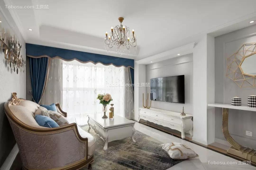 98㎡浪漫法式风格三室两厅小资生活图片