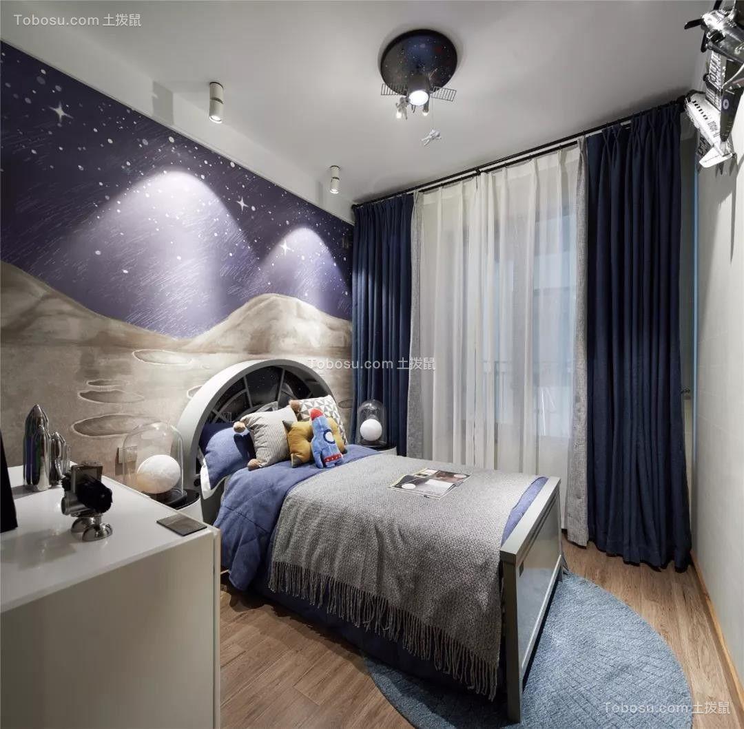 89平的现代风小户型三居室,儿童房的布置好科幻