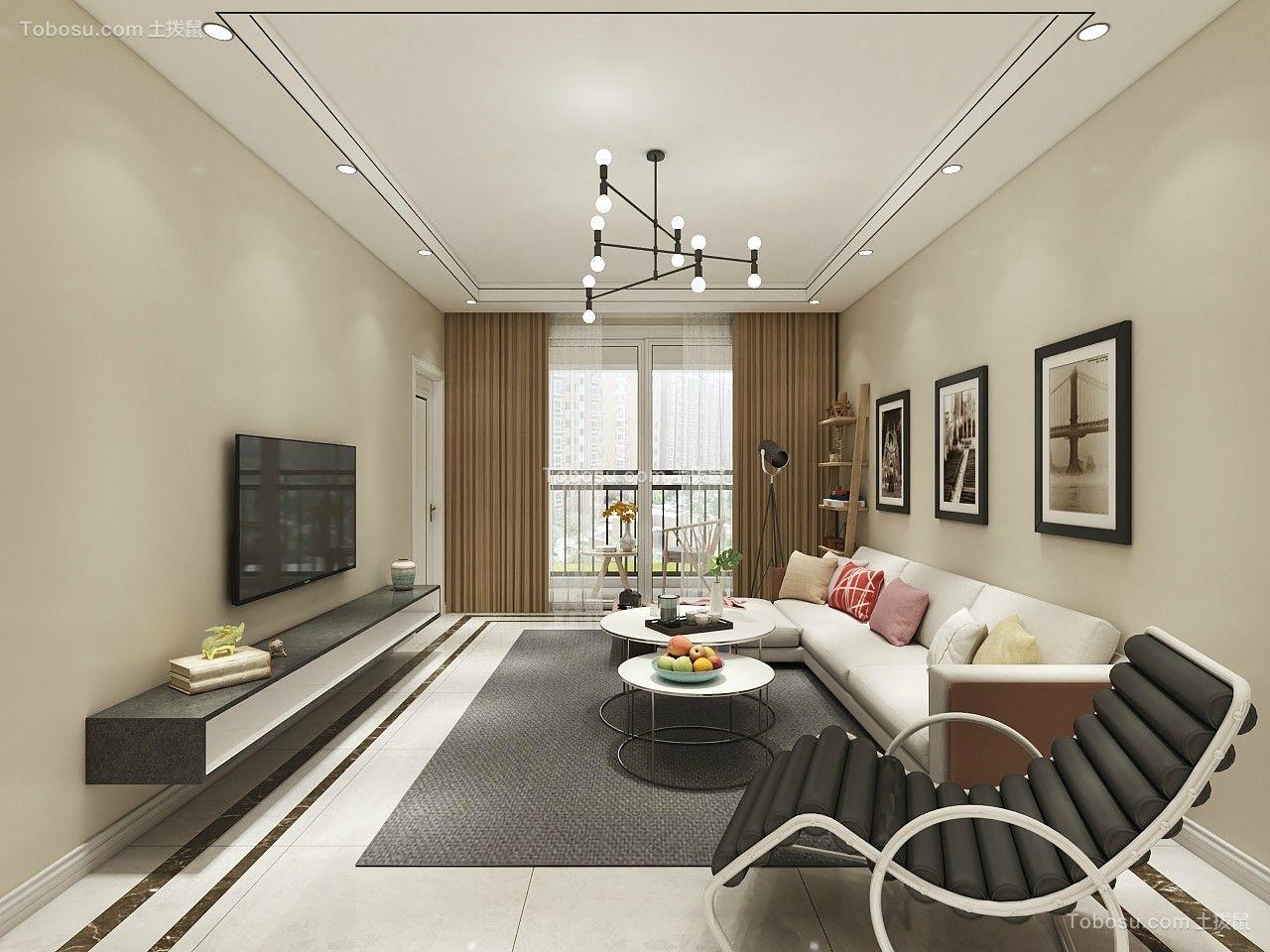 117平米现代风格8万三居室装修案列赏析