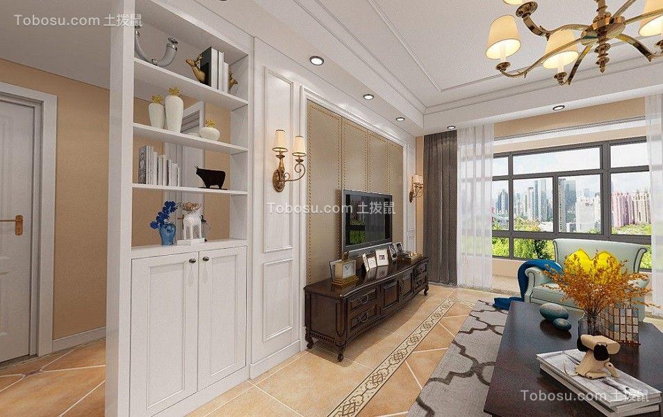 新華聯青年城140平美式大三居室效果圖