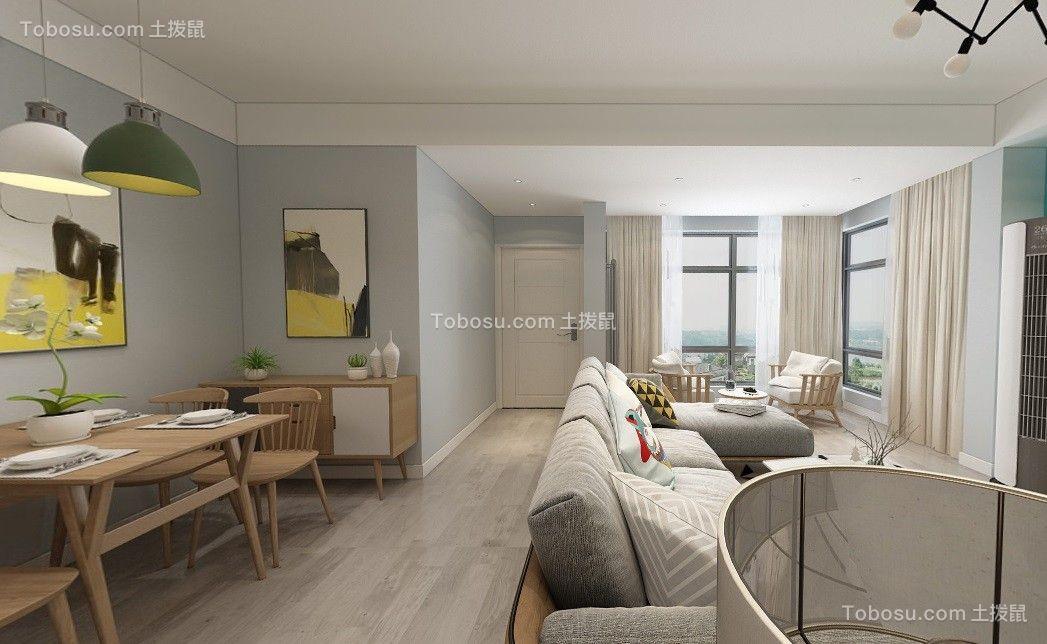 清江泓景105平北欧三居室客厅效果图