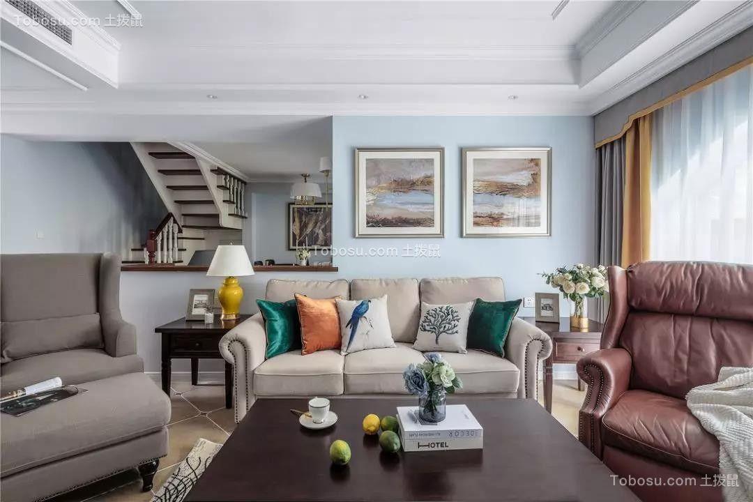 2019美式客厅装修设计 2019美式阁楼装修图