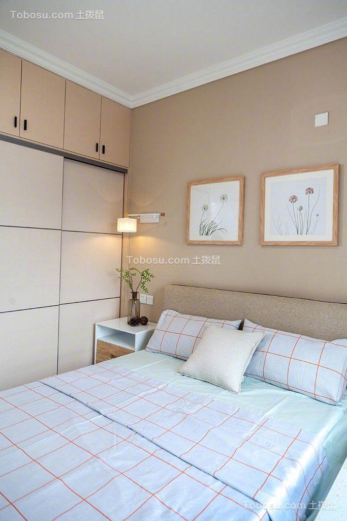 2019现代简约卧室u乐娱乐平台设计图片 2019现代简约床图片