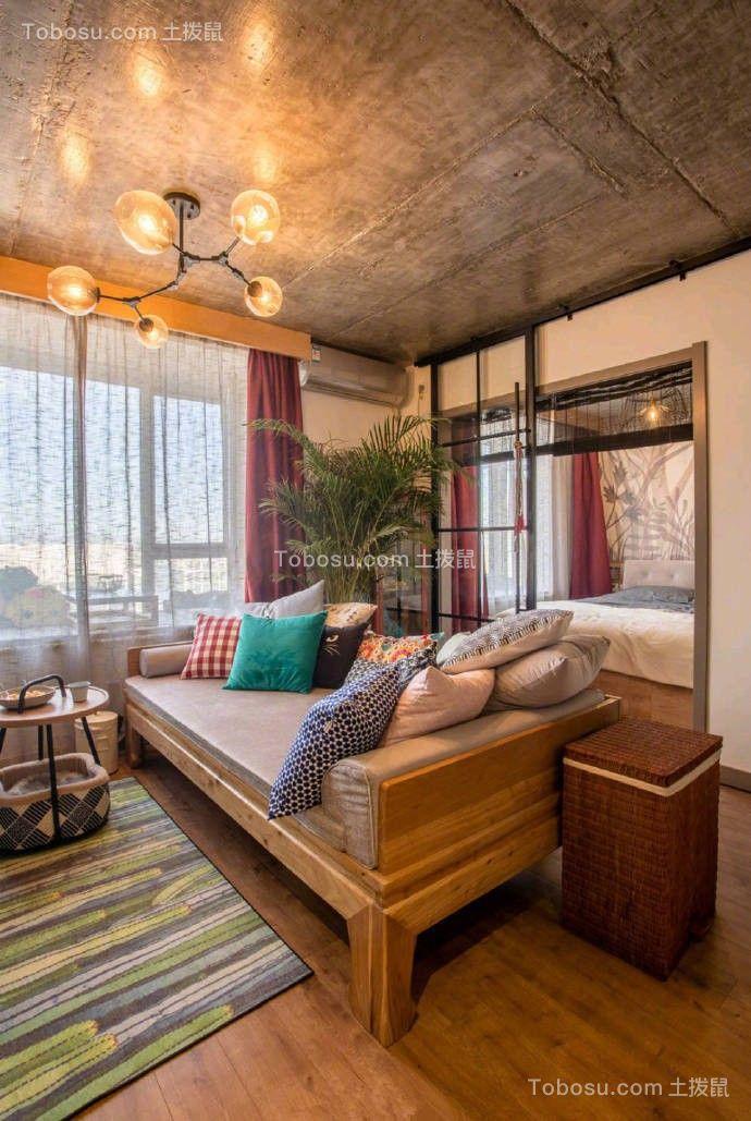 混搭风格一室一厅户型38平米图片欣赏