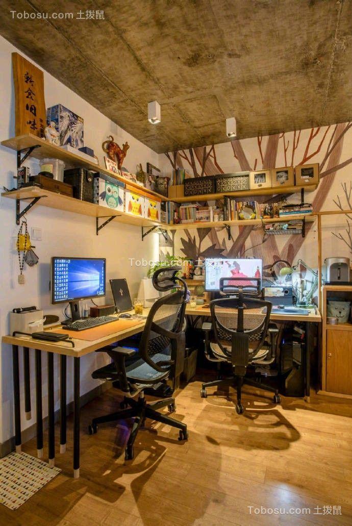 2020混搭客厅装修设计 2020混搭书桌装修图片