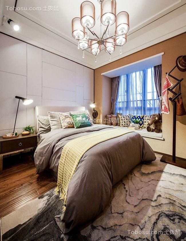 85平米现代简约二居室效果装修图