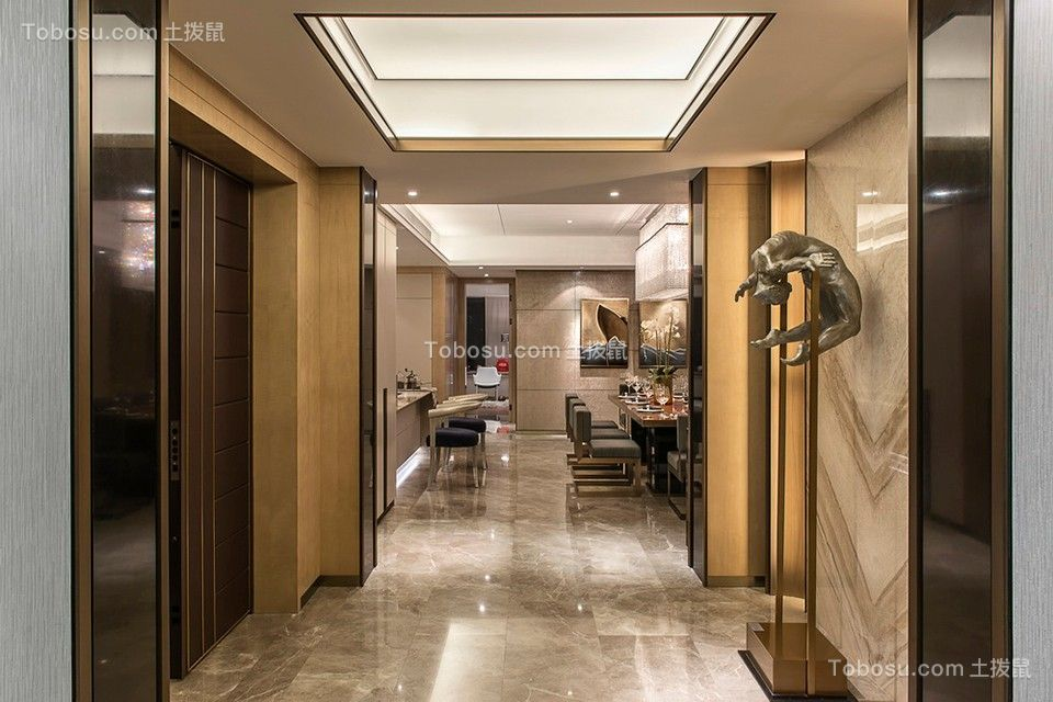 188平米现代简约四居室效果装修图