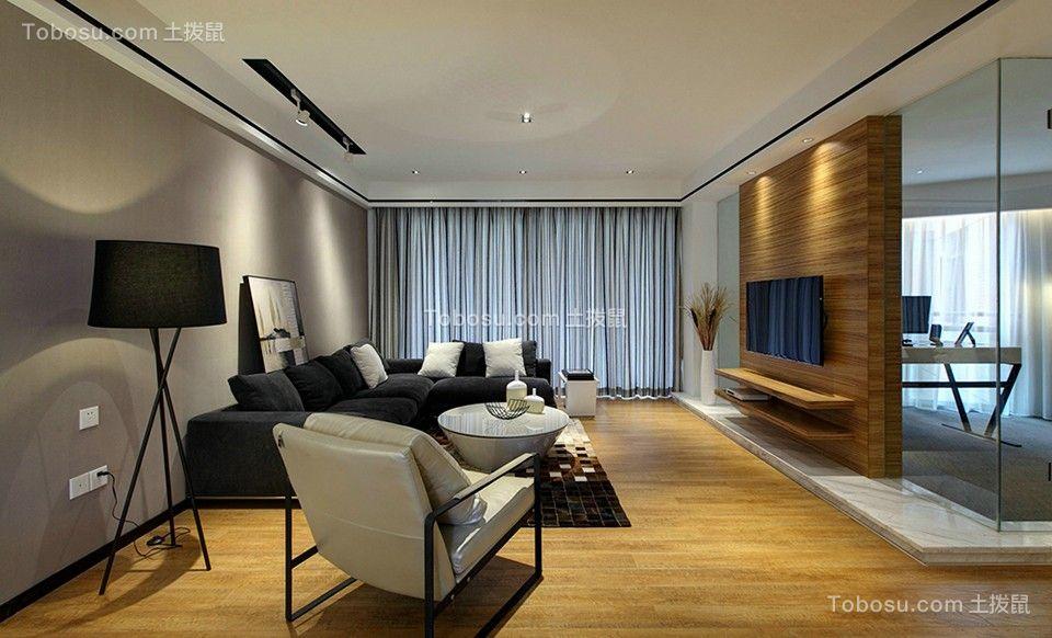 166平米现代简约三居室装修效果图