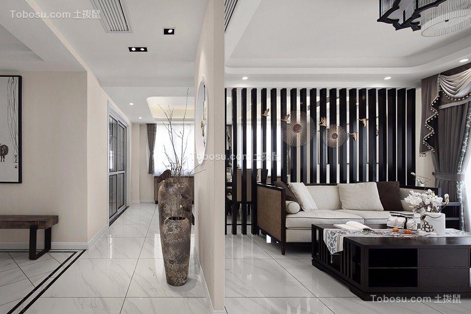 中澳滨河湾128平方新中式三居室效果图