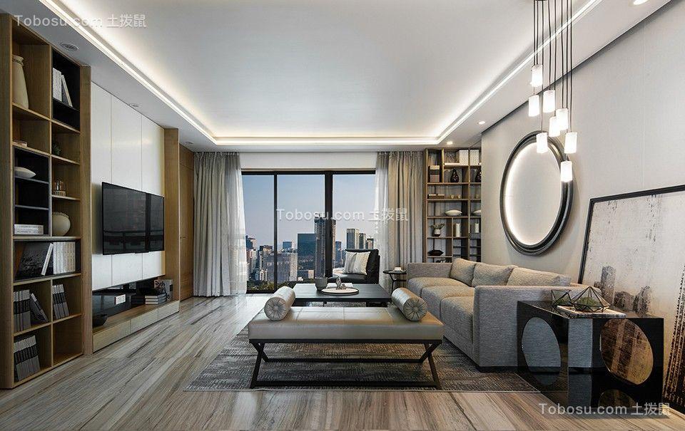88平米现代简约二居室装修效果图