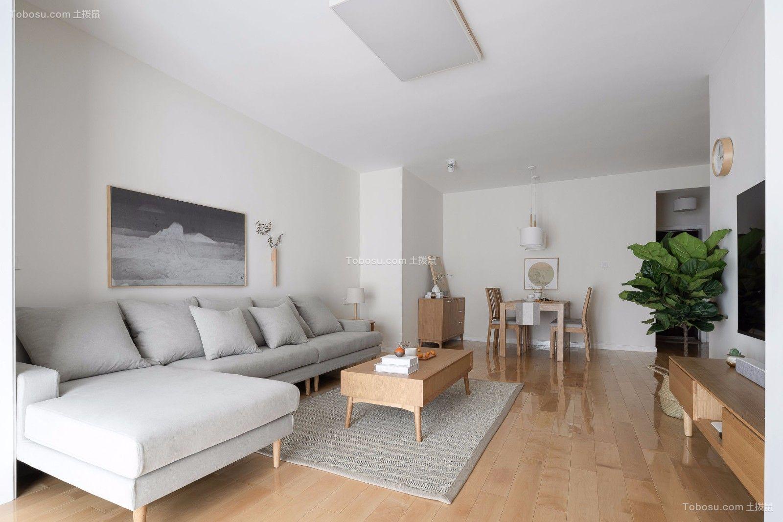 简中式日韩式风格简约90平米两室设计图片