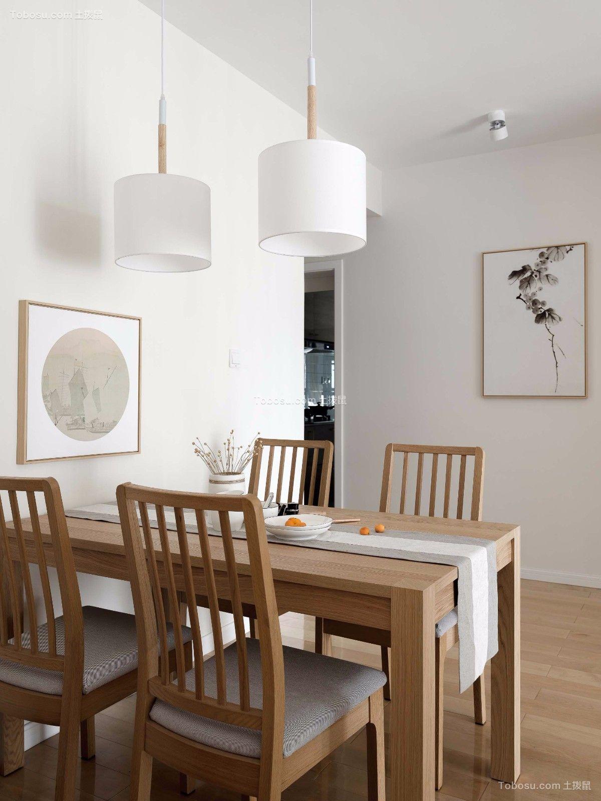 简中式日韩式风格简约90平米两室设计