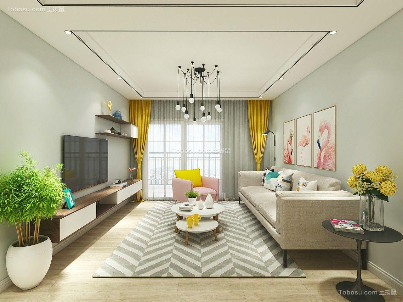 127平米北欧风格10万三居室装修案列