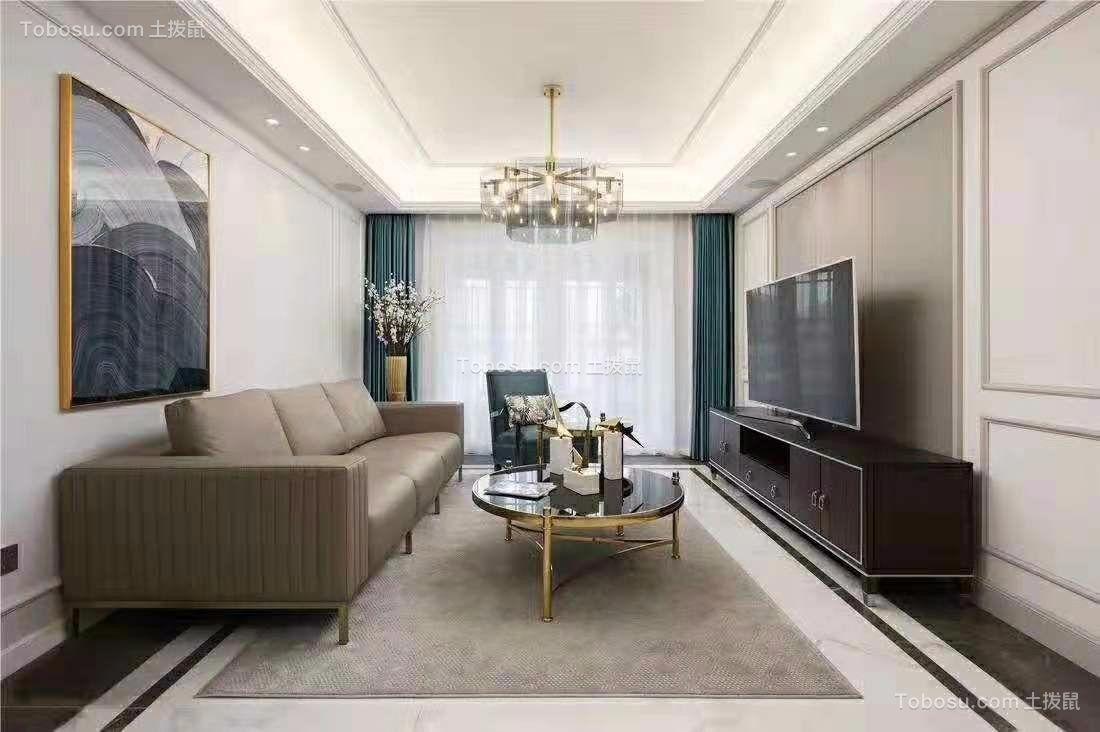 中环一号120平简约美式风二居室装饰效果图