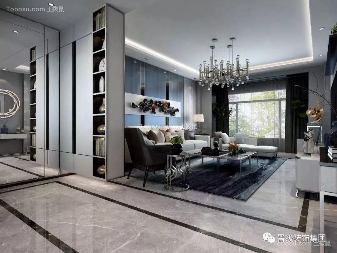 2020后现代客厅装修设计 2020后现代博古架装修图片