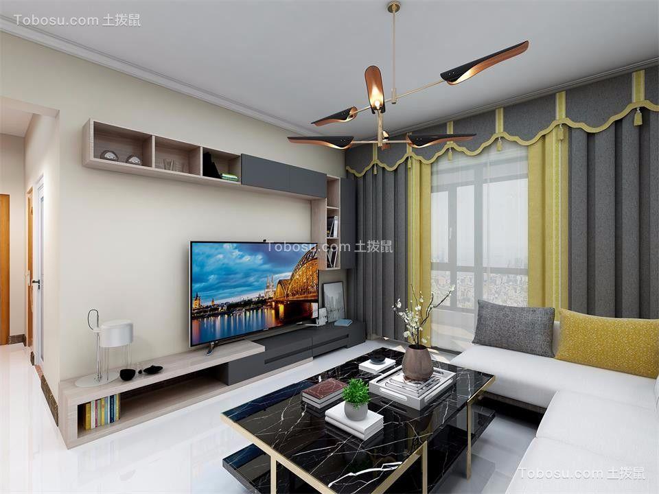 远洋香缇104平方现代简约三房两厅效果图