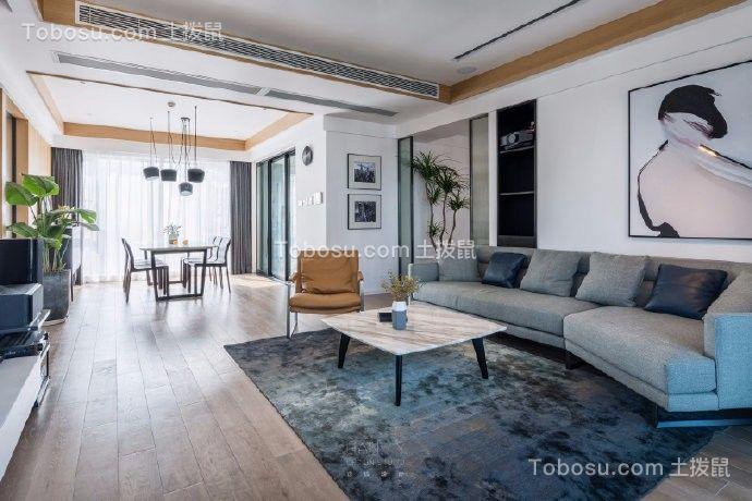 青特花溪地现代简约130平米三居室效果图