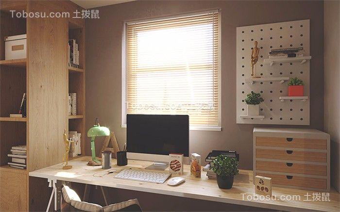 56㎡公寓原木风装修效果图