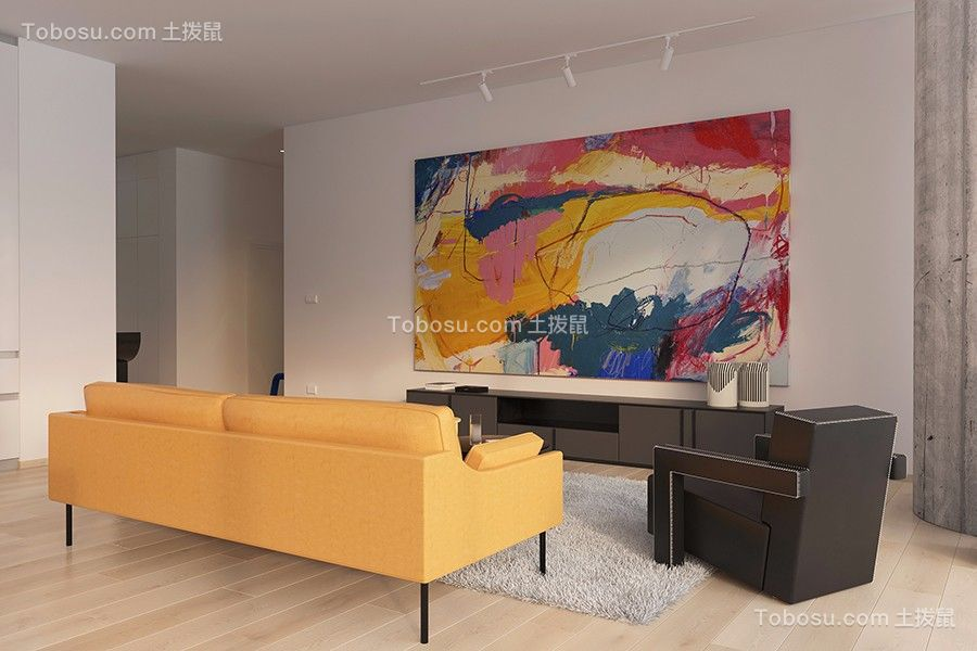 2019现代简约客厅装修设计 2019现代简约背景墙图片
