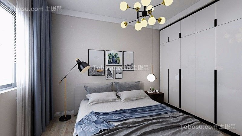 2020简欧卧室装修设计图片 2020简欧衣柜装修效果图片