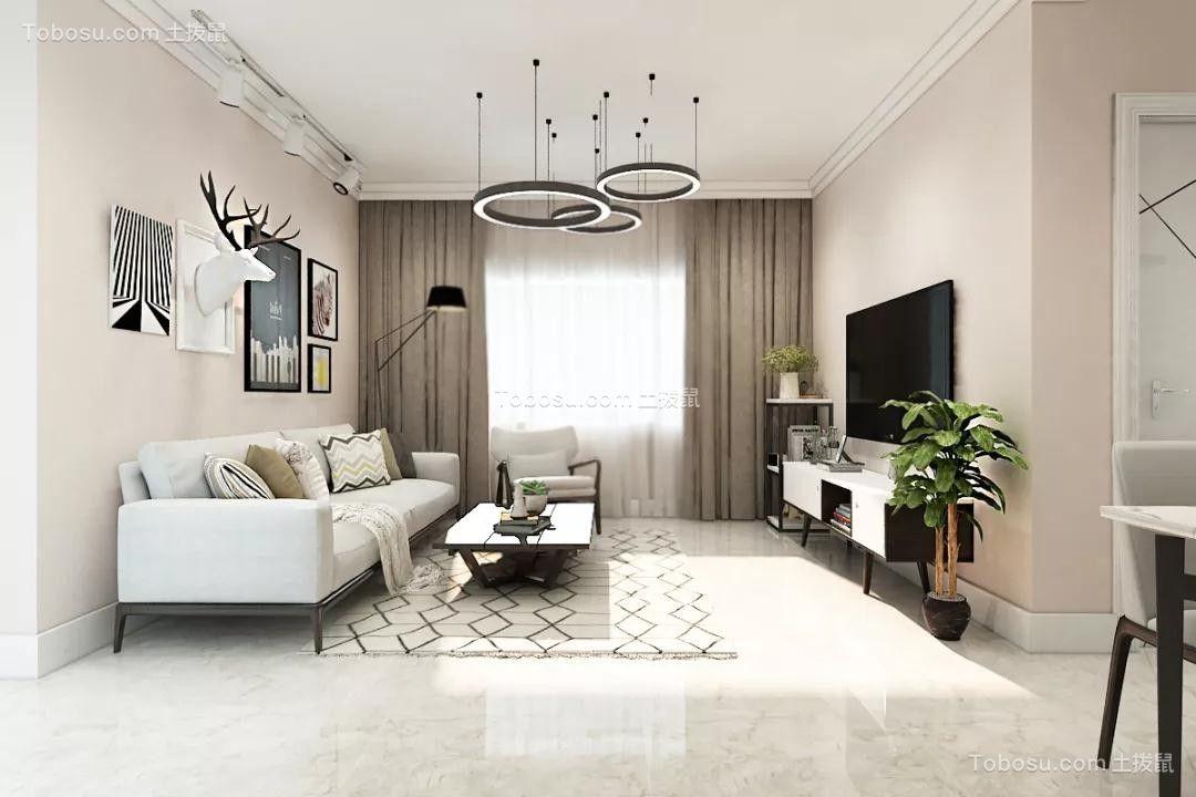 东亚翰林世家86平米北欧风格二居室效果图鉴赏