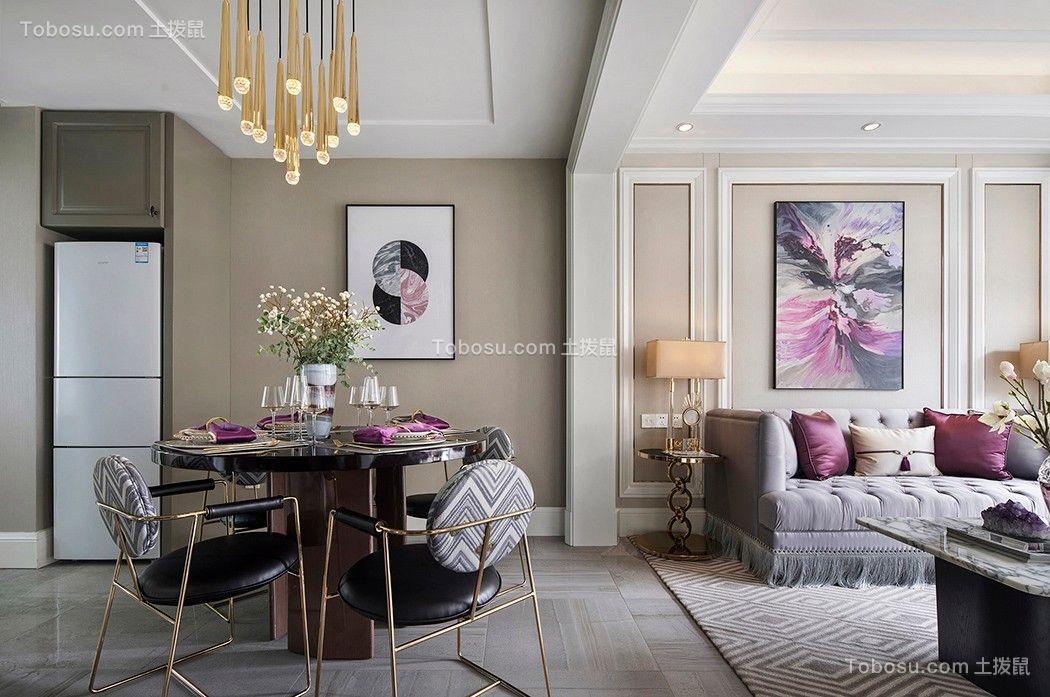2019法式客厅装修设计 2019法式背景墙图片
