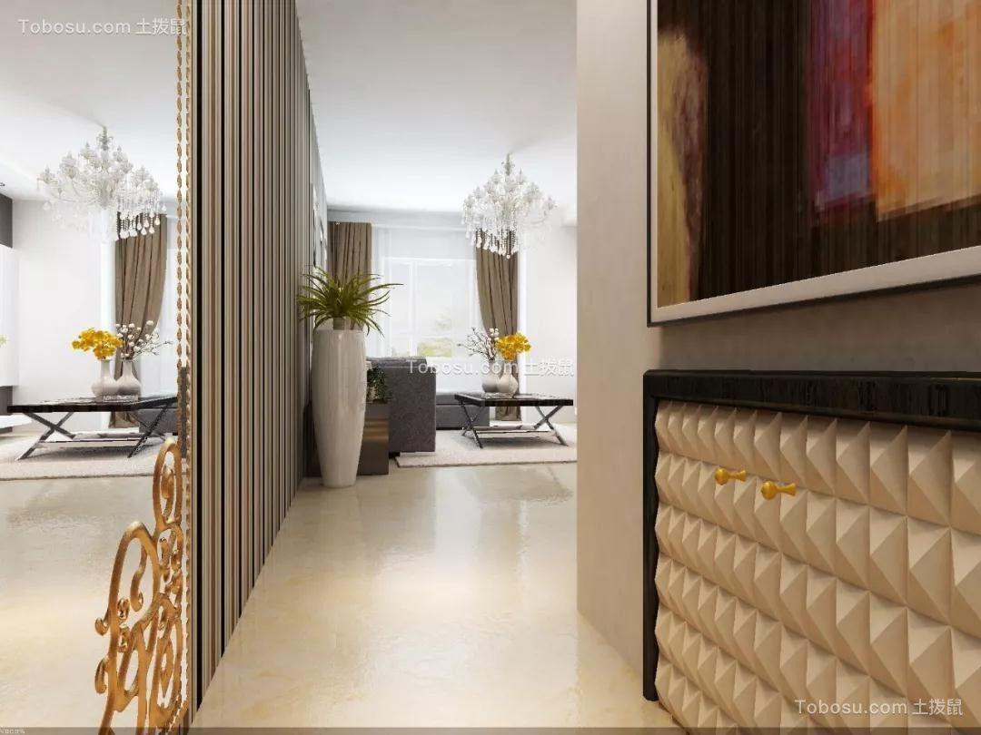 金地檀府74平米现代风格二房效果图鉴赏
