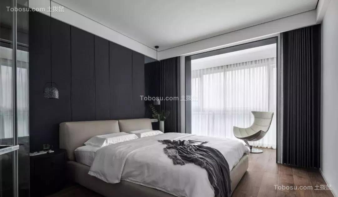 2019现代简约卧室装修设计图片 2019现代简约落地窗图片