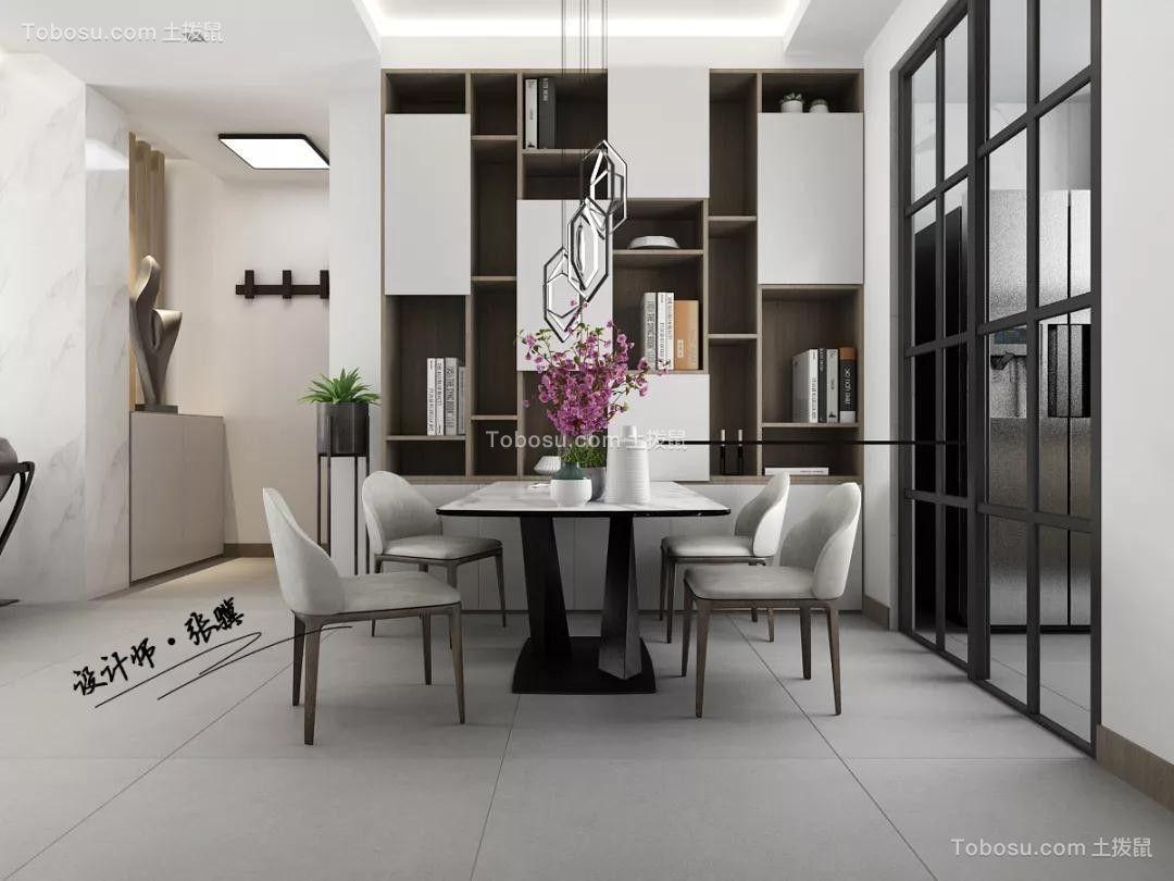 2020现代餐厅效果图 2020现代博古架装饰设计