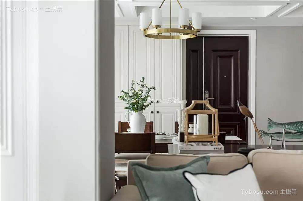 2020美式客厅装修设计 2020美式博古架装修图片