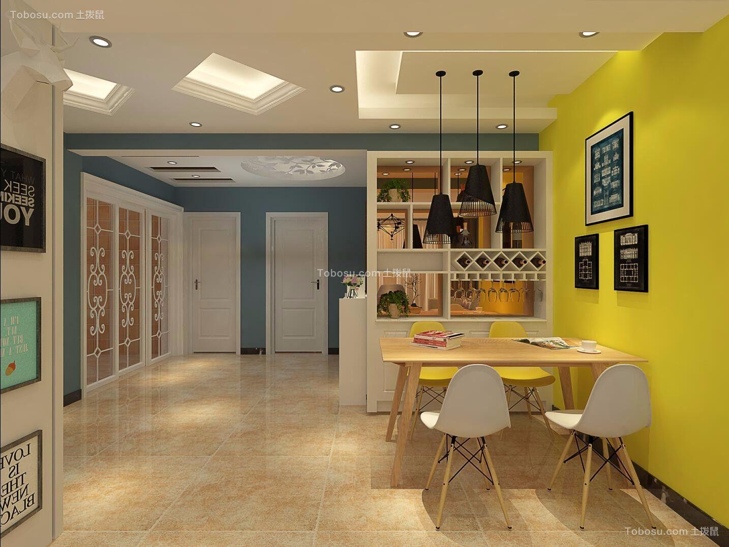 2019现代餐厅效果图 2019现代背景墙装修设计