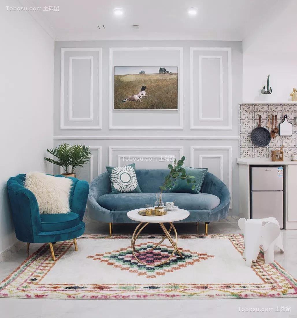 90㎡优雅美式2室2厅,精致有品位的小资情调