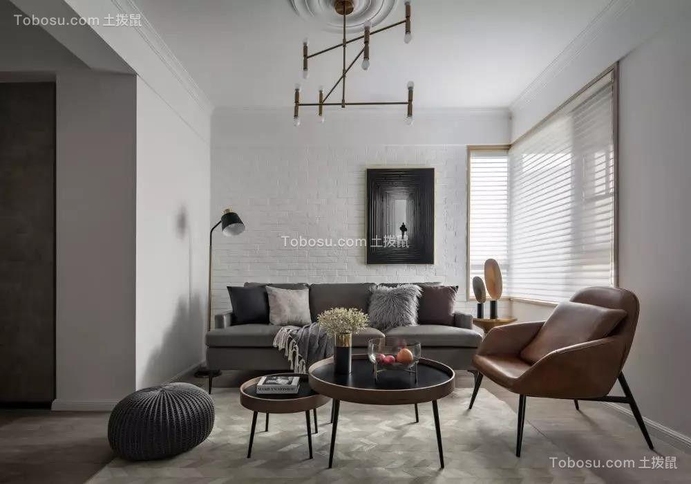 98㎡现代主义3室2厅,高级灰彰显优雅时尚感