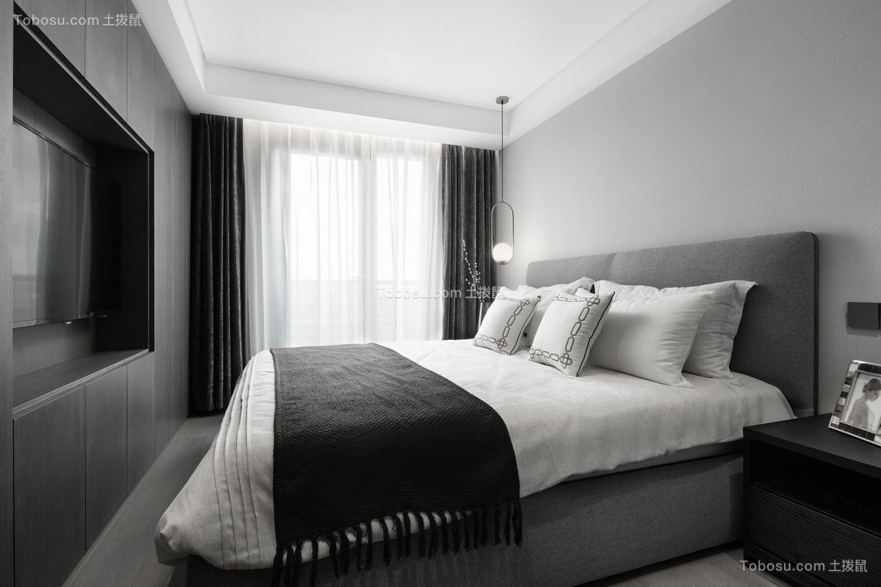 2019现代卧室装修设计图片 2019现代电视柜效果图