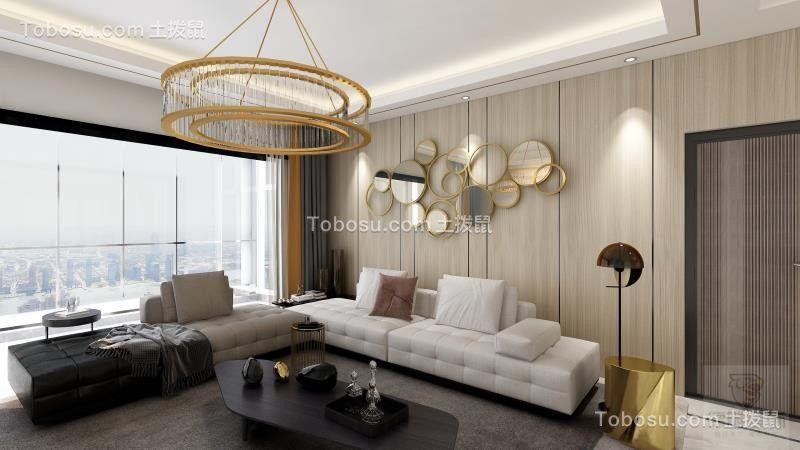 2020现代客厅装修设计 2020现代吊顶设计图片