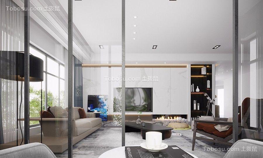 2019现代简约客厅装修设计 2019现代简约吊顶设计图片