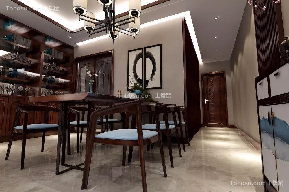 2019新中式餐厅效果图 2019新中式灯具装修效果图片