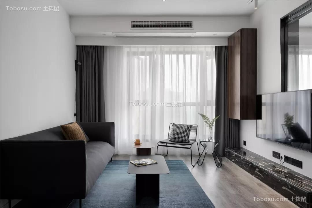97㎡现代主义3室2厅,高级黑白灰缔造品质生活