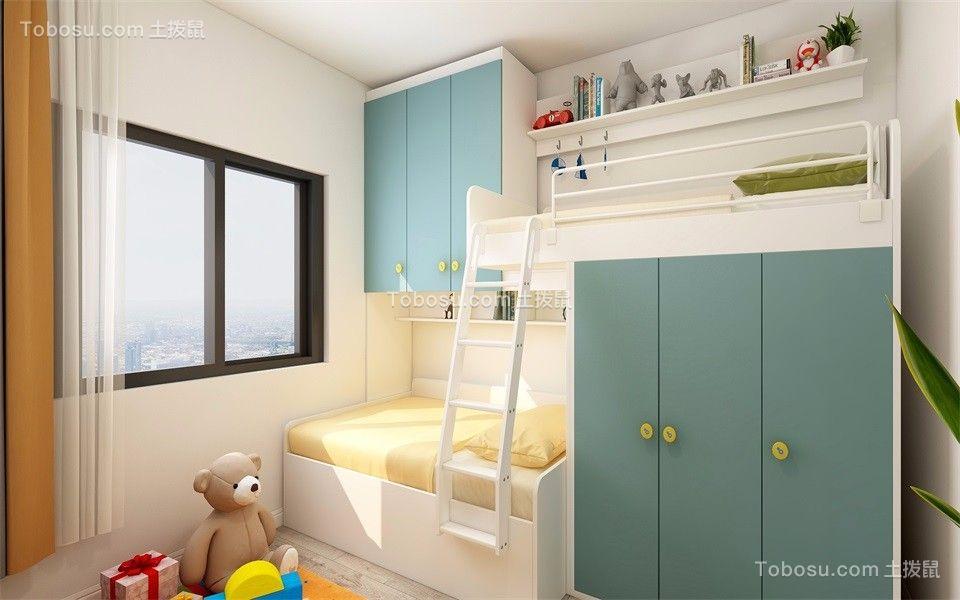 2019现代简约儿童房装饰设计 2019现代简约床效果图