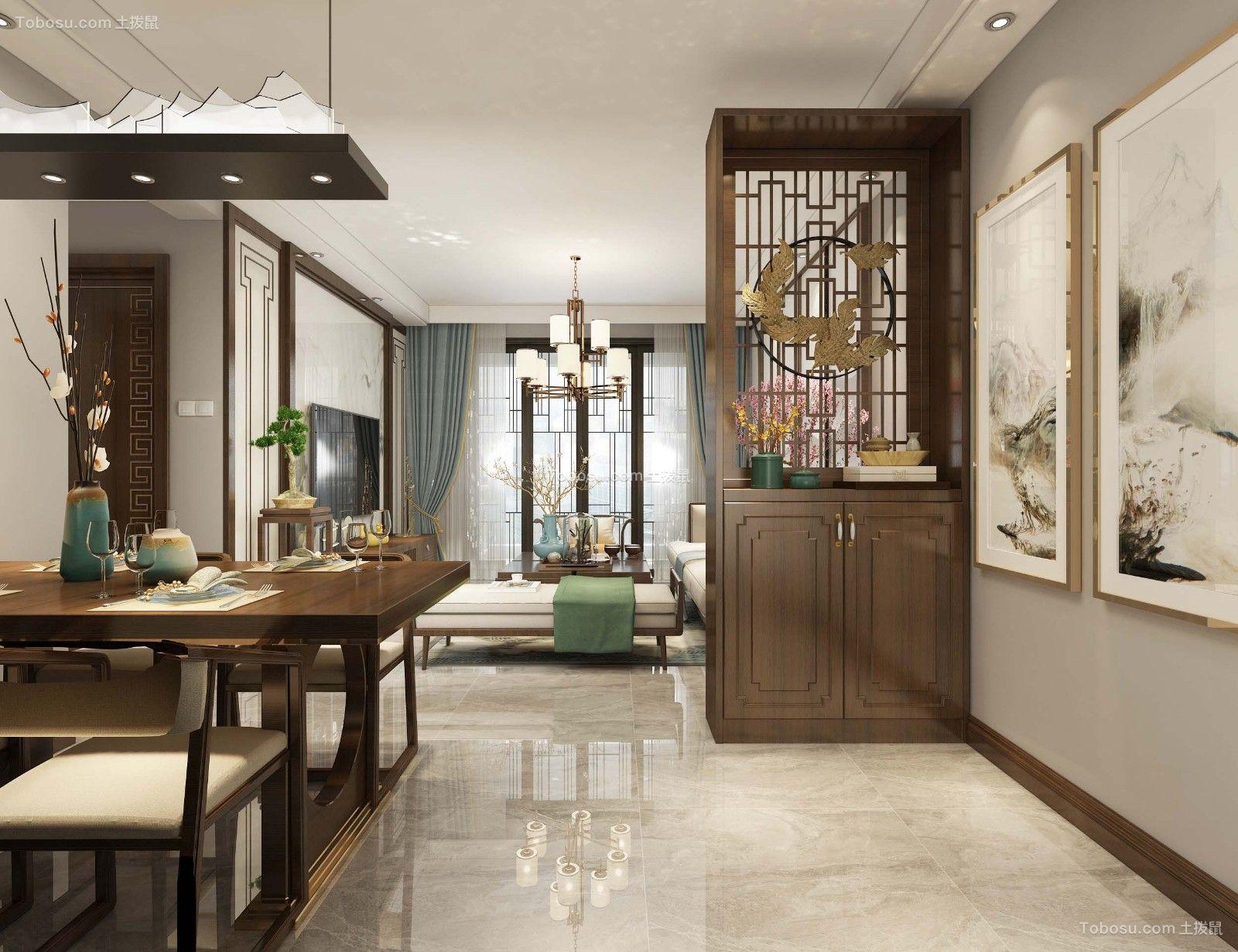 100平米三室中式风格装饰