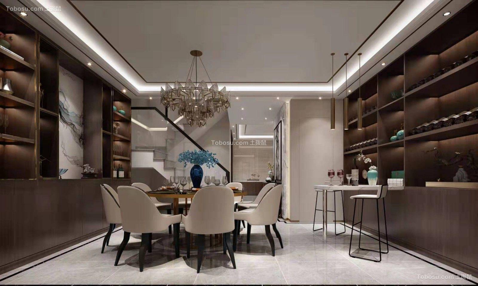 2019新中式餐厅效果图 2019新中式酒窖装饰设计